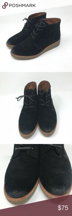 """REBECCA MINKOFF   Palmer Wedge Chukka Boot Wedge heel. Black suede.   Does not come with original box Condition: light wear throughout  Heel height: 1.5"""" Rebecca Minkoff Shoes Ankle Boots & Booties"""