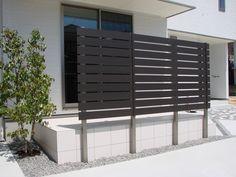 掃出し窓への目隠しフェンス Fence, Divider, Garage Doors, Exterior, Landscape, Architecture, Simple, Garden, Outdoor Decor