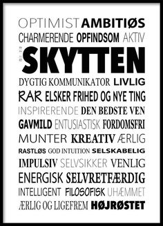 Skytten Plakat - Tekstcollage med stikord Heart Quotes, Wise Quotes, Inspirational Quotes, Funny Pictures, Wall Decor Quotes, Life Thoughts, Wise Words, Zodiac Signs
