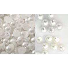 Embellishment World :: BUTTONS :: Pearl Embellishments :: Flatback Craft Half Pearls Pearly Jewel Embellishment Embellishments, Pearl Earrings, Jewels, Crafts, Buttons, Ornaments, Pearl Studs, Manualidades, Jewerly