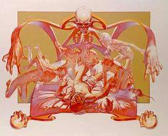 """Sabbath Bloody Sabbath"" by Black Sabbath, 'WWA' Records, LP, (1973) - Color Pencil & Acrylic On Board of Cover Artwork Illustration Album by Drew Struzan (b. 1947, American), Size: 30"" x 40"", Creative Director Ernie Cefalu  ~  [Original Illustration pre-finish stamped]."