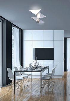 Plafonnier/Applique Delta LED Luminaire Vintage, Deco Luminaire, Luminaire Design, Led Module, Led Ceiling Lights, Three Dimensional, Geometric Shapes, Designer, Diffuser