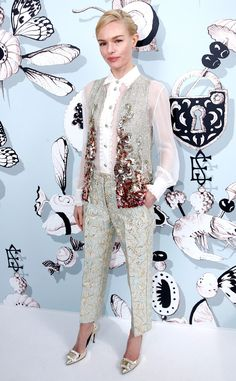 Kate Bosworth from The Best of the Red Carpet Ms Bosworth charms in this enchanting ensemble by Schiaparelli at the designers Paris Haute Couture show.