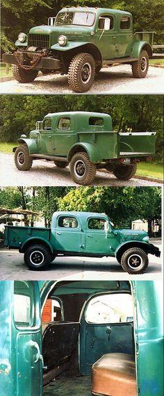 1947 dodge power wagon crew cab - Google Search