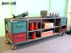 Tv-Lowboard-Schrank-Metall-Industrie-Design-Loft-Vintage-Kommode-Anrichte
