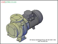 3D Pump: 3D Series Centrifugal Pump 3D 32 125/1.1(M) Autocad, Centrifugal Pump, Cad Blocks, Projects To Try, Sci Fi, Pumps, 3d, Science Fiction, Pumps Heels