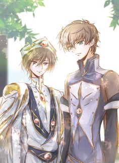 They work so well together *-* Love them! Manga Anime, Anime Nerd, Manga Girl, Anime Boys, Code Geass Wallpaper, Lelouch Vi Britannia, Lelouch Lamperouge, All Codes, Chef D Oeuvre