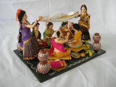 Her Story My name is Ramani, I run a small handicraft unit in Nagpur over the last 25 years. In our unit we make paper mâché handicrafts. We specialise in making paper mâché costumed … Wedding Doll, Our Wedding, Wedding Ideas, Wedding Ring, Thali Decoration Ideas, Decor Ideas, Making Paper Mache, Telugu Wedding, Wedding Mandap