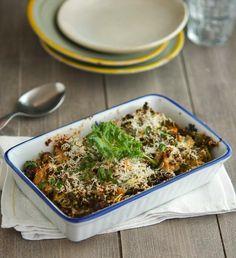 Caramelized Cauliflower and Sauteed Kale Casserole