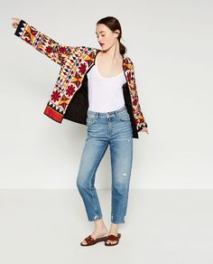 Image 1 of HAND-EMBROIDERED BLAZER from Zara