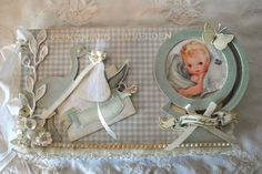 annes papercreations: Kaisercraft bundle of joy baby boy mini album and card - Nellie Snellen Punch flower tutorial