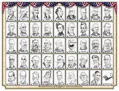 A gent named Marv Sohlo wrote me last week asking my permission to put all my presidential caricatures together into a single poster design… just for fun and for his own personal use. These a…