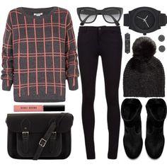 Картинки по запросу black cambridge satchel outfit