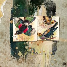 https://flic.kr/p/WPAWF7 | FLY |   For a template challenge at The Lilypad. The birds are from (I think) Antique Images; everything else is from Dawn Inskip.   Detailed credits in comment.