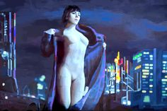 "Skarlet Johansson ""Ghost in the Shell"" -Digital Painting"""