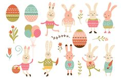easter bunnies - Illustrations
