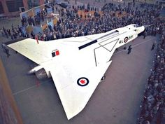 Avro Arrow: A 1950's Canadian supersonic all-weather interceptor that was way ahead of its time.. Its design and look were a radical departure from what existed at the time.. First to be designed by digital computers and had major parts CNC milled.. First fly-by-wire with force-feedback.. First high-wing design (copied on the F-15, F-22, Su-27, MiG-29, MiG 25 etc.).. First by-pass engine design.. and much more.. See the complete list after the jump..