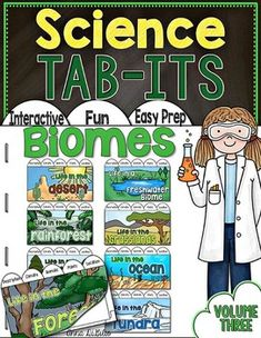 Biomes Of the World Tab-Its Bundle for Interactive Notebooks