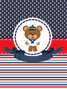 Tudo Festas: Kit Ursinho Marinheiro