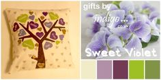 Family Tree Cushion Covers - Sweet Violet - The Supermums Craft Fair