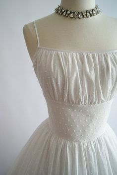 1950's Style Swiss Dot Sundress xtabayvintage || Can't Afford It? Get Over It! House of Mooshki's Daisy for Under $400