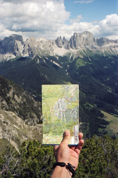 Cool photo idea - next time you're hiking, photograph the map in front of the mountains/scenery you're visiting!