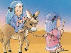 The Christmas Story: The Birth of Jesus Wallpapers  - Journey to Bethlehem - Nativity scene Art