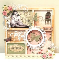 Couture Creations Vintage Rose Garden Collection : Shabby Frame by Amanda Baldwin