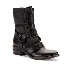 Lawton Leather Buckled Boot - Kenneth Cole