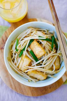 Bean Sprouts with Tofu - easy and healthy bean sprouts with tofu ...