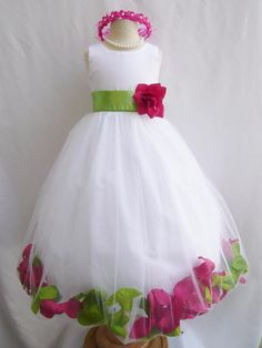 Hey, I found this really awesome Etsy listing at https://www.etsy.com/listing/159376286/custom-color-flower-girl-dress-rose