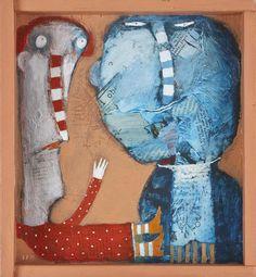 Soňa Mrázová,maľba na dreve, 196 €, 38,5 x 41,5 cm