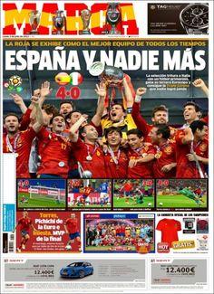 50 portadas de medios de todo el mundo para recordar la victoria de España (vía @233grados)