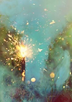 Love sparklers on New Year's Eve...