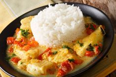 Cod curry with tomatoes - Tom Recipes Seafood Appetizers, Healthy Appetizers, Healthy Drinks, Appetizer Recipes, Healthy Food, Vegan Recipes Easy, Healthy Dinner Recipes, Crockpot Recipes, Breakfast Recipes
