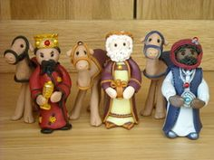 Fimo Nativity set, I'd love to make one of these