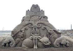 Esculturas de areia de Toshihiko Hosaka | IdeaFixa