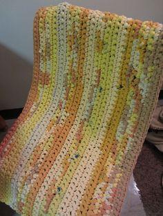 T-shirt yarn rug.