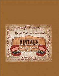 Vintage Style Thank You Shopper Cards For shop by GloriousTymes, $6.00 Vintage Style, Vintage Fashion, Graphic Design Services, Vintage Tags, Printable Cards, Thank You Cards, Business Cards, My Arts, Shop