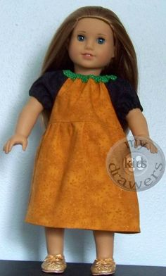18 Doll PLUTO Inspired Peasant Princess Dress by #mykidsdrawers American Girl Gift Ideas
