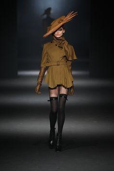 John Galliano Fall/Winter 2012/2013.  Cool take on Edwardian costuming (minus the long skirt!).