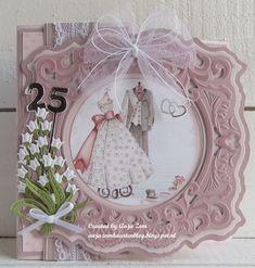 Marianne Design, Diy Cards, Dream Wedding, Wedding Dreams, Wedding Cards, Cardmaking, Decorative Plates, Anniversary, Design Inspiration