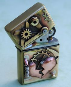 Broken Heart Steampunk Lighter