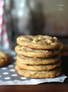 Amazing White Choc Chip Cookie recipe I made today. I didn't wait the 24+ hours, batter was amazing as it was right out of the food processor.