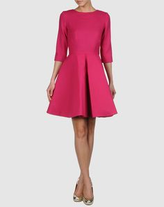 Pink skater dress by Henrietta Ludgate in the Livia Firth boutique on Yoox.