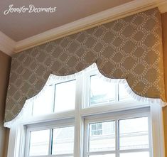 Need help deciding what window valance ideas will work best for your window? Here are some fabulous ideas, plus instructions on making a rolled valance. Small Curtains, Drapes And Blinds, Drapes Curtains, Curtain Valances, Drapery, Custom Valances, Custom Drapes, Wood Valance, Valance Ideas
