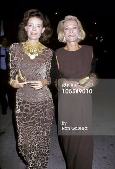 Chessy Rayner and Nan Kempner opening of Galerie Lafayette 1991