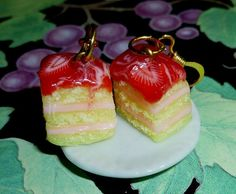 polymer clay food charms | Polymer Clay Food Jewelry Juicy Strawberry by purpleshammrockshop, $12 ...