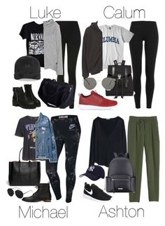 """Airport Outfits with Pants"" by fivesecondsofinspiration ❤ liked on Polyvore featuring Topshop, Brandy Melville, NIKE, Boohoo, Polo Ralph Lauren, Columbia, Proenza Schouler, Lanvin, Valas and Le Specs"