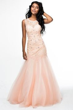 0f95cad5eb1 Brit Cameron - 16353 Beaded Sleeveless Mermaid Dress Свадебные Платья